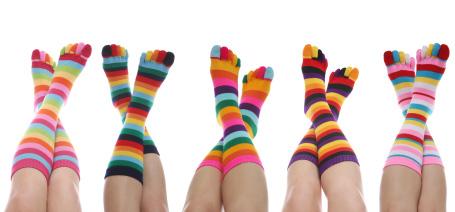 Kolorowe skarpetki wykonane z bawełny